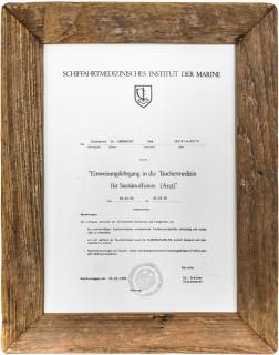 Urkunde Tauchermedizin